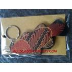 Batik Wood Key Rings