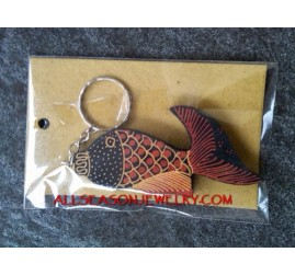 Key Chains Batik Wooden