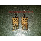 Cat Wooden Key Chains