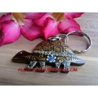 Wooden Turtles Keyrings