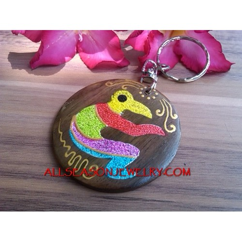 Wooden Keyrings Charms