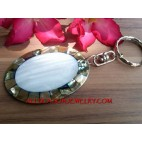 Abalone Shell Key Chains