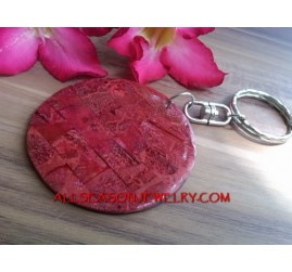 Red Coral Key Chains Holder