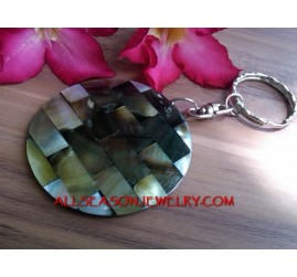 Shell Mother Pearl Key Chain