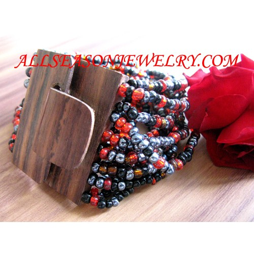 wood bracelet bead