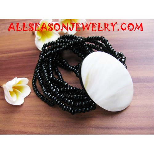 MOP Shell Beads Bracelet