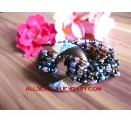 Wooden Painting Bracelet Bead