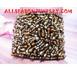 bead bracelet with velcro