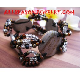 Bead Bracelet With Woodss