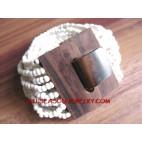 Bead Bracelet Wood Clasp