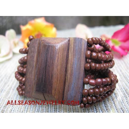 Bead Wood Bracelet Buckle
