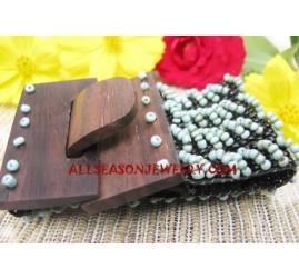 Bead Wood Buckle Bracelet