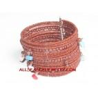 Beaded Cuff Bracelet Charm