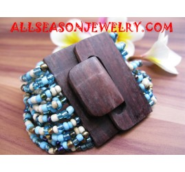 Beads Bracelet With Woods