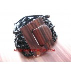 Bead Bracelet Wood Clasps