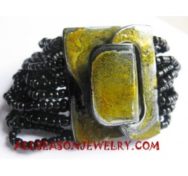 Bracelet Beads Clasps Wood