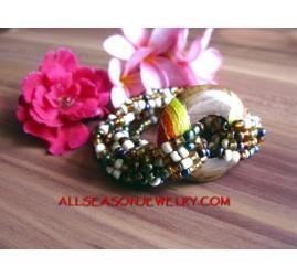 Bracelet Bead Pendant Wood