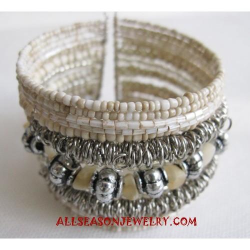 Bracelets Beads Elastic