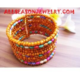 bead cuff bracelet wide