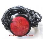Coral Bead Bracelet