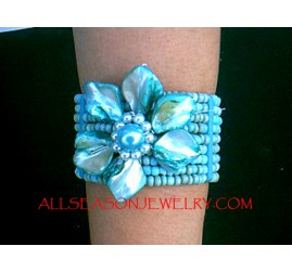 Fashion Bead Flower Bracelet
