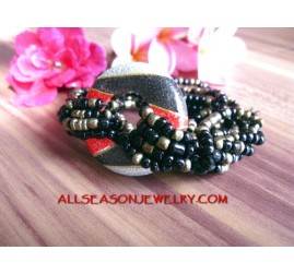 Casual Bead Bracelet Wood
