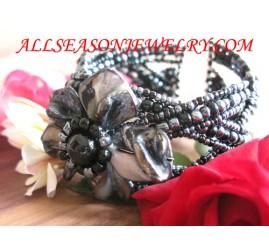 Girl Beads Bracelet Cuff