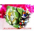 Green Bracelets Buckle