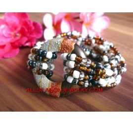 Hand Painted Wood Bracelet