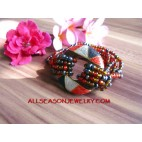 Wood Painted Bracelets Bead