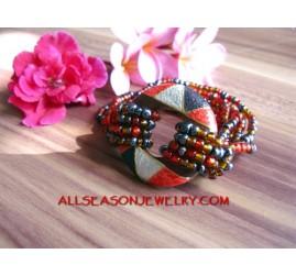 Wood Painted Bracelets Bead