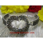 Ladies Bead Bracelet Stainless