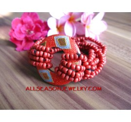 Hand Painted Bracelet Beads