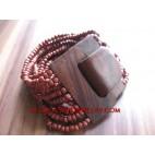 Wood Buckle Cuff Bracelet