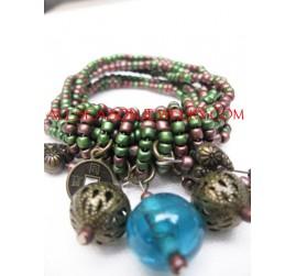 Miyuki Bead Charm Bracelet
