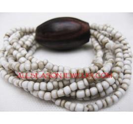 Natural Bead Wood Bracelet