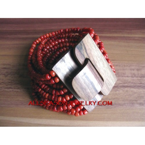 Red Coloring Bead Clasps