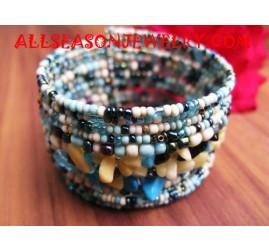 Sequin Bracelet With Stone