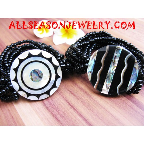 Sequin Shell Stretch Bracelet