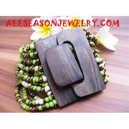 Sequin Wood Bracelet Buckle