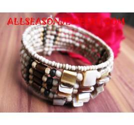 Shell Sequin Bracelets