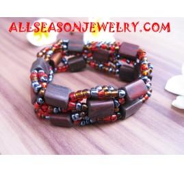 Beaded Wooden Bracelet