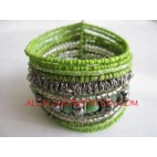 Wire Bead Cuffs Bracelets