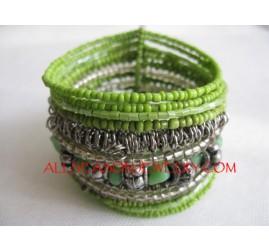 Wire Bead Cuffs Bracelets