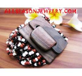 Wood Buckle Bracelet Bead