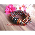 Wooden Ring Bead Bracelet