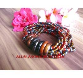 Wooden Ring Bead Bracelet