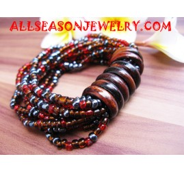 Wood Sequin Bracelets