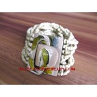 Wood Clasp Painted Beads