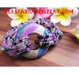 Wooden Sequin Bracelet